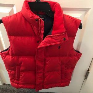 Ralph Lauren polo down vest lined with fleece